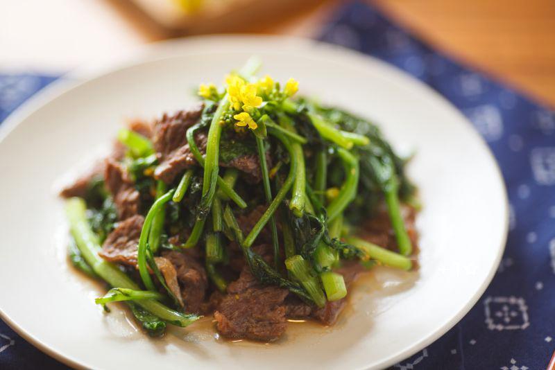 Món cải ngồng xào thịt bò giòn ngon hấp dẫn