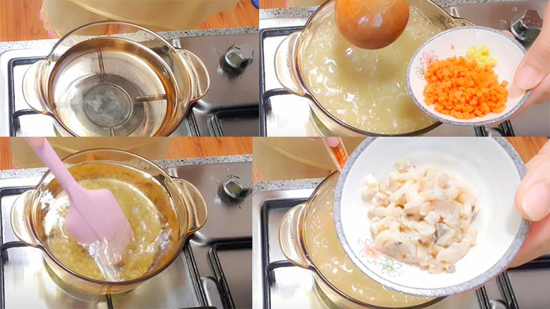 Nấu cháo bào ngư