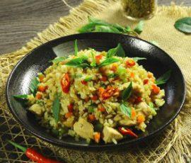 Món cơm chiên cà ri xanh Thái Lan ngon tuyệt