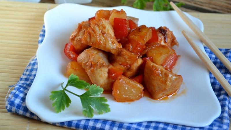 Món gà xào dứa chua chua ngọt ngọt ngon cơm