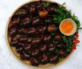 Món ốc bươu nướng tiêu xanh ngon tuyệt hấp dẫn
