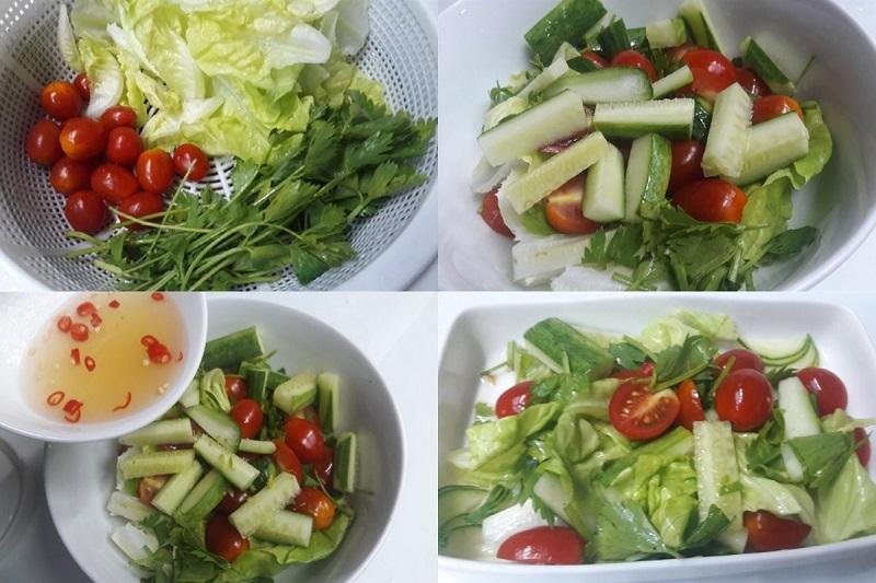 Cách làm salad cà chua