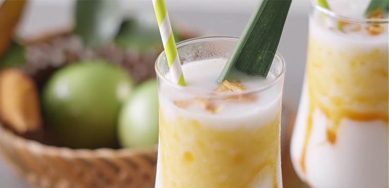 Món sinh tố vú sữa dừa thơm ngon béo ngậy