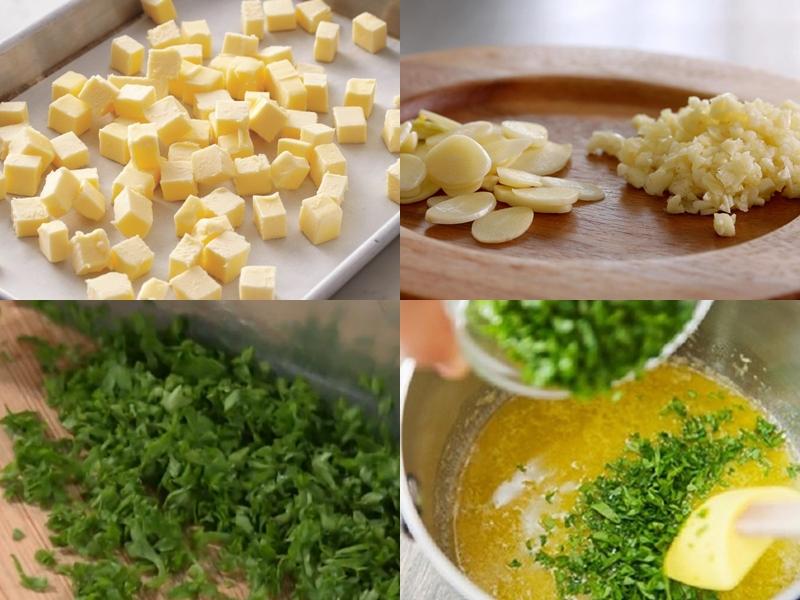 Làm hỗn hợp bơ tỏi