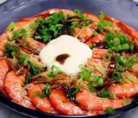 Món tôm hấp dầu hào cho bữa ăn thêm ngon miệng