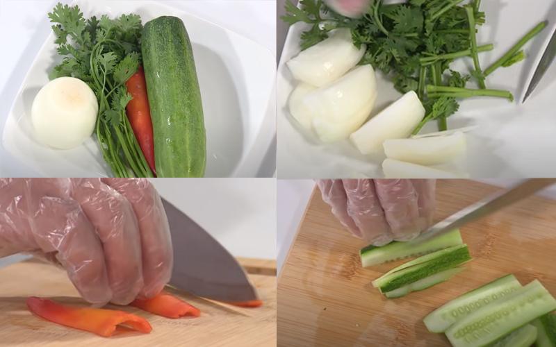 Sơ chế các nguyên liệu rau củ
