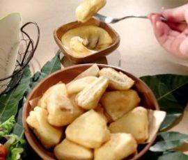 Món cá hồi chiên sa kê giòn tan bổ sung dinh dưỡng