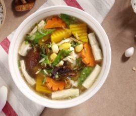 Món canh bí đỏ bạch quả thơm ngon bổ dưỡng