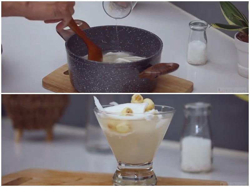 Món chè hạt sen dừa non thanh mát giải nhiệt