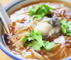 Món mì súp hàu Đài Loan mới lạ ngon hấp dẫn