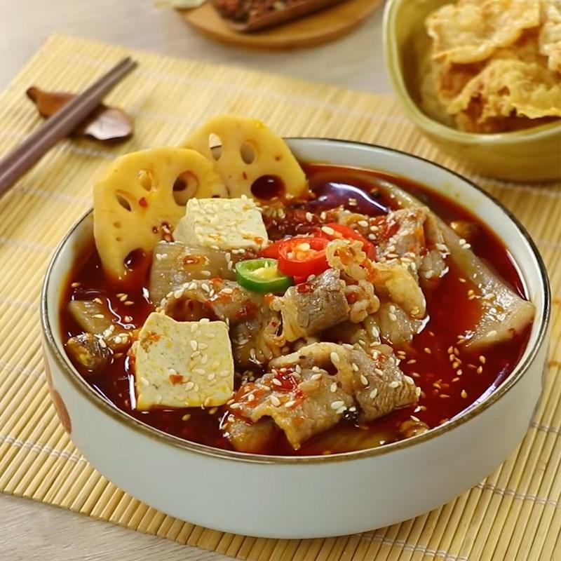 Món miến chua cay Trùng Khánh ấm bụng ngày mưa