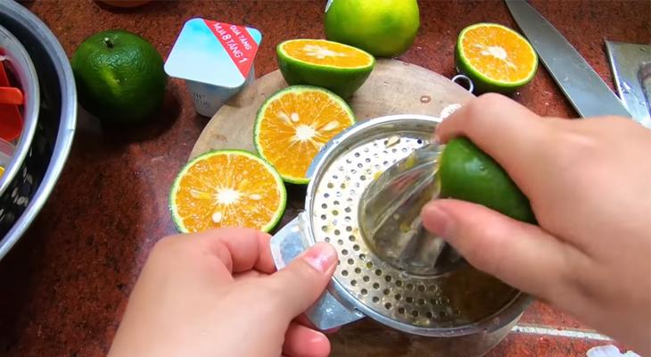 Vắt lấy nước cam