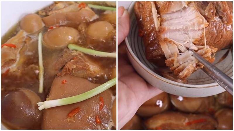 Món thịt kho nước dừa ngon chuẩn vị miền Tây