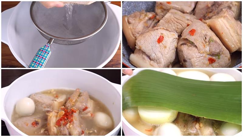 Kho thịt với nước dừa