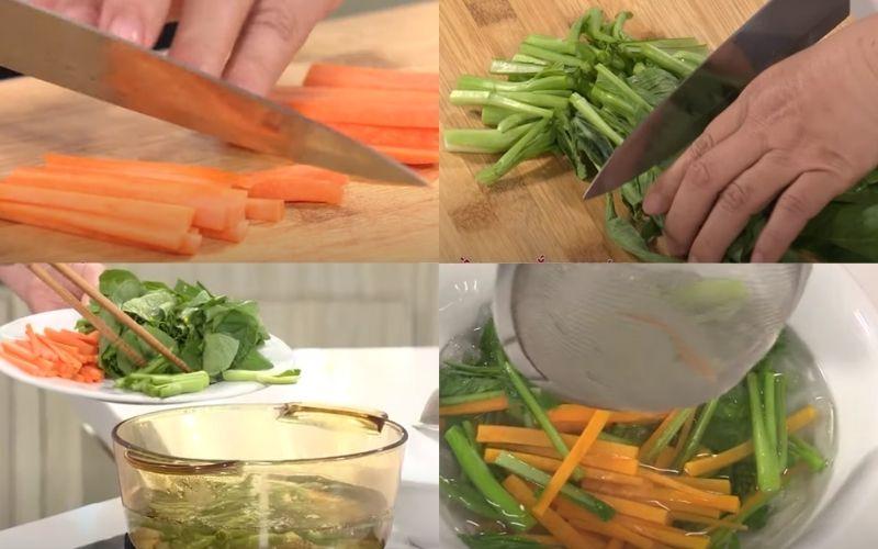 Sơ chế các loại rau củ