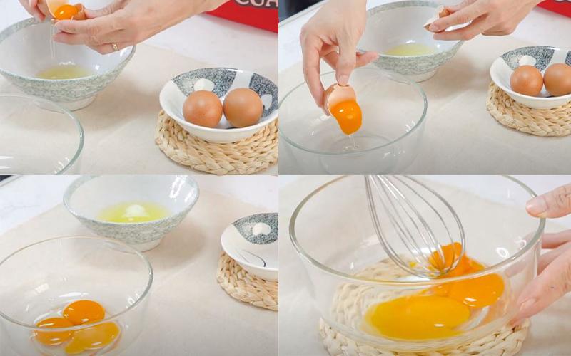 Sơ chế phần trứng