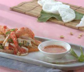 Món gỏi củ hũ dừa bao tử giải nhiệt ngày nắng