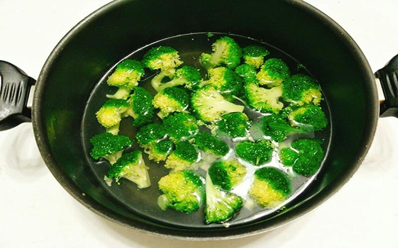 Sơ chế phần bông cải