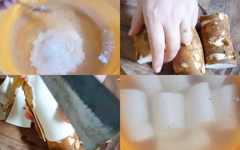Sơ chế khoai mì