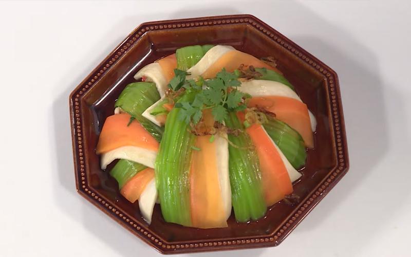 Món nấm đùi gà hấp cải xanh ngon bổ dưỡng