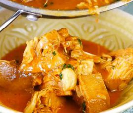 Món cà ri mít non lạ miệng cho ngày ăn chay