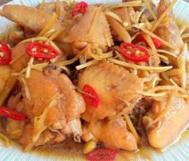 Món gà ram gừng thơm ngon đậm vị
