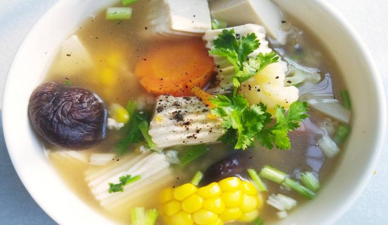 Món súp đậu hũ bắp vừa ngon vừa tốt cho dạ dày