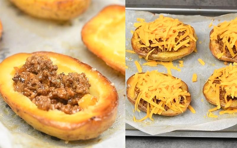 Nhồi nhân và nướng khoai tây