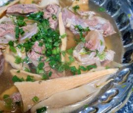 Món bắp bò hầm măng khô mềm ngọt không bị dai