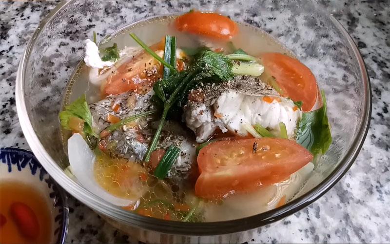 Món canh cá chẽm nấu ngót cho bữa ăn thêm tròn vị