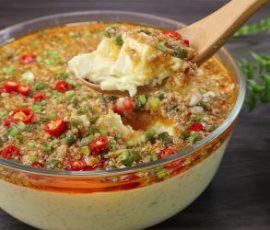Món đậu hũ trứng sốt thịt heo ngon ngất ngây