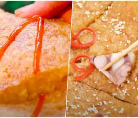 Món bánh chưng chiên không cần dùng dầu ăn