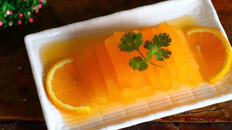 Món bí đao ngâm nước cam chống ngán giảm cân