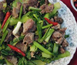 Món bò xào cải thìa vừa ngon vừa bổ dưỡng