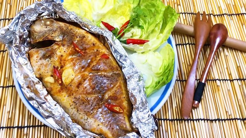 Món cá diêu hồng nướng giấy bạc mềm ngọt thơm phức