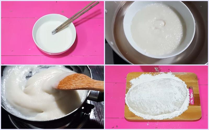Làm phần vỏ bánh