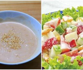 Món nước sốt chua ngọt trộn salad cực ngon
