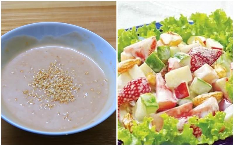 Nước sốt chua ngọt trộn salad cực ngon
